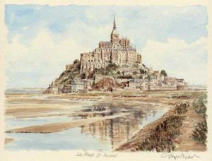 Mont St. Michel by Glyn Martin