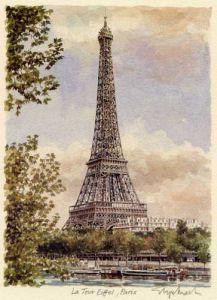 Paris - Tour Eiffel by Glyn Martin