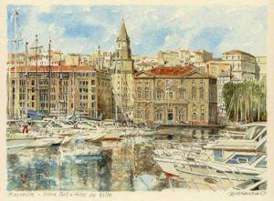 vieux port et l' H de V by Philip Martin