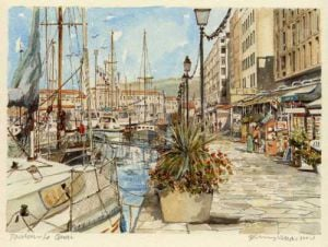Toulon - le quai by Philip Martin