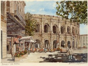 Nimes - les arenes by Philip Martin