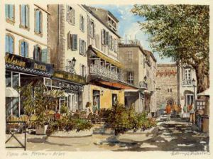 Arles - Place du Forum by Philip Martin