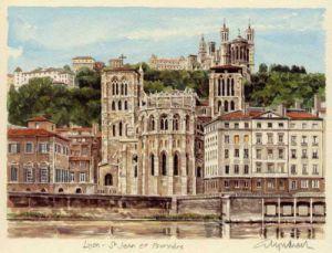 Lyon - St. Jean a Fourviere by Glyn Martin