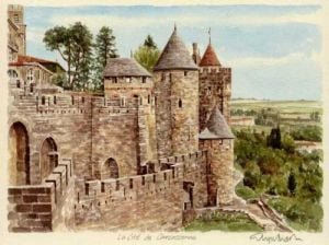 Carcassonne - Le Cite by Glyn Martin