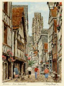 Rouen - Rue Damiette by Glyn Martin