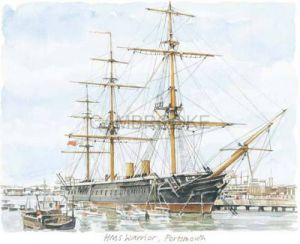 Portsmouth - HMS Warrior by Glyn Martin