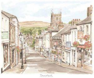 Tavistock - street scene by Glyn Martin