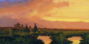 Blackfeet - Sunset by Nicholas Coleman