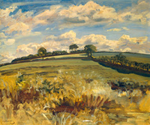 Withypool Landscape Exmoor by Sir Alfred Munnings