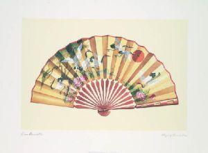 Flying Crane Fan by Lisa Danielle