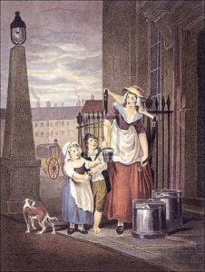 Milk Maids Below by Francis Wheatley