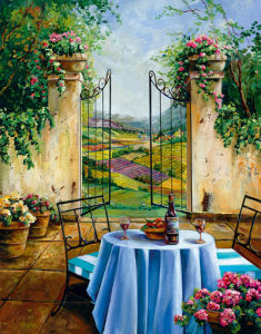Table For Two I by Ginger Cook