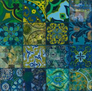 Cobalt Mosaic I by John Douglas