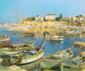 Little Boats St Jean by Gabriel Deschamps