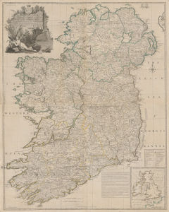 A Map of The Kingdom of Ireland by John Rocque