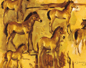 Studies of Pixie, an Exmoor Foal by Sir Alfred Munnings