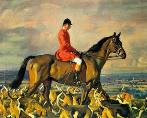 Portrait Of Major T. Bouch by Sir Alfred Munnings