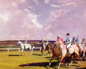 Steeplechasing by Sir Alfred Munnings