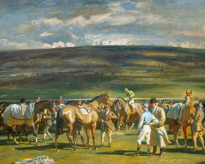 In The Saddling Paddock by Sir Alfred Munnings