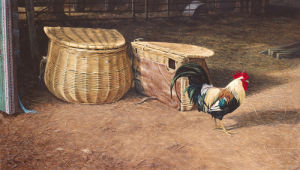 Cockerel and Baskets by Peter Munro