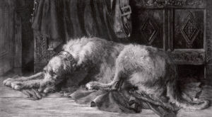 Irish Wolfhounds by Herbert Thomas Dicksee