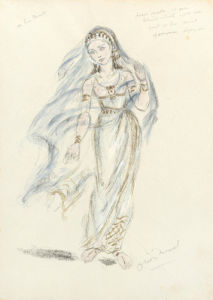 Designs for Cleopatra LII by Oliver Messel
