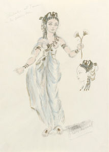 Designs for Cleopatra LIII by Oliver Messel