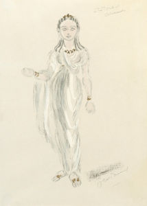 Designs for Cleopatra LIV by Oliver Messel