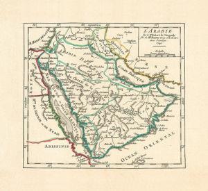 L'Arabie 1749 by Robert de Vaugondy