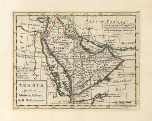 Arabia Agreeable to Modern History by Herman Moll