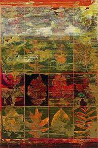 Leaves In A Row III by John Douglas