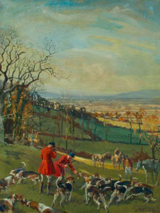 Huntsmen and Hounds by Lionel Edwards