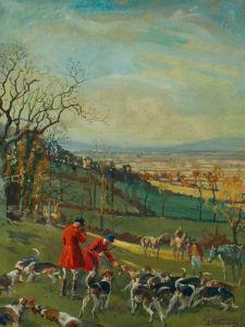 Huntsmen and Hounds by Lionel Edwards