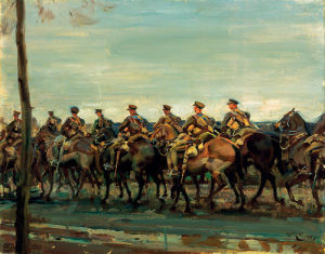 Lord Strathcona's Horse on the March by Sir Alfred Munnings