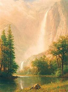 Yosemite Falls by Albert Bierstadt