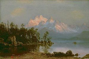 Mountain Canoeing by Albert Bierstadt