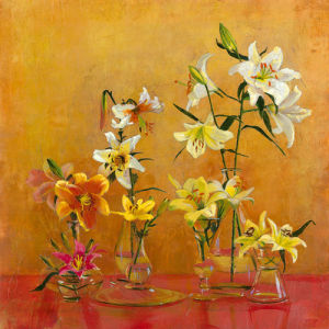 Lilies In Vases I by Danson