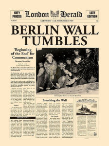 Berlin Wall Tumbles (large) by London Herald