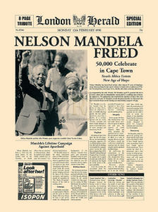 Nelson Mandela Freed by London Herald