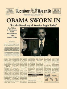 Obama Sworn In by London Herald