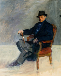 Portrait of Munnings by Maurice Codner