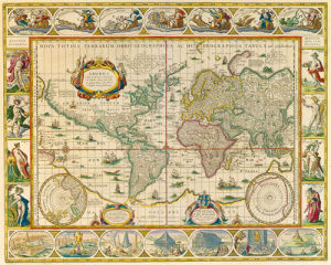 Map Of The World by Richard Blome