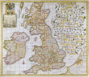 A New Map of England Scotland and Ireland 1680 by Robert Morden
