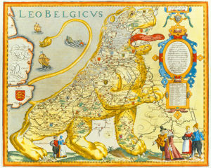 Leo Belgicus 1617 by Claes Janszoon
