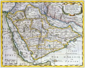 Arabia 1851 by Nicolas Sanson