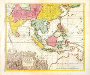 India Orientalis Adjacentius Insulis c1740 by Georg Matthaus Seutter
