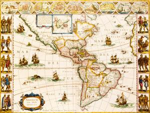 Americae Nova Tabula 1617 by Willem Janszoon Blaeu