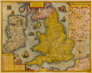 Angliae et Hiberniae 1605 by Johann Baptist Vrients
