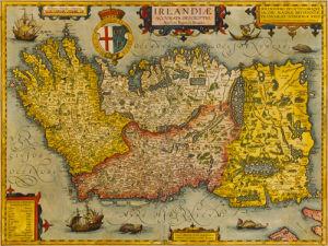Irlandiae 1602 by Abraham Ortelius