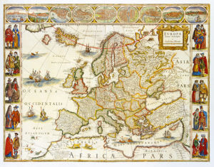 Europa 1617 by Willem Janszoon Blaeu